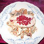 recette darne de saumon  airelles, champignons!!!soja cuisine