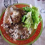 recette Cuisse de poulet au thym et aux champignons