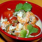 recette Curry aux crevettes et tomates