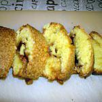 recette cake amande et gelée de groseille