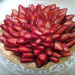 recette Tarte au chocolat & aux fraises