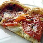 recette Tarte feuilletée au pesto et fromage