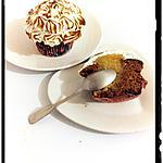recette cupcakes danette caramel -banana curd meringué