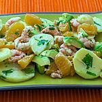 recette Salade de pommes de terre, crevettes et oranges