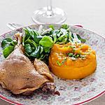 recette Confit de canard à la purée de potimarron