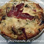 recette Flan d'aubergines à la Fourme d'Ambert et magret de canard séché