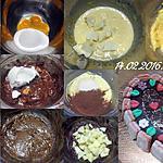 recette Gâteau St Valentin.chocolaté et pomme.
