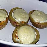 recette Pomme de terre farci ricotta chorizo gratiné au babybel
