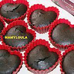 recette Coeurs coulant au chocolat