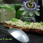 recette **Tartinade légère aux coeurs d'artichauts parfumée au basilic,graines de sésame et de lin**