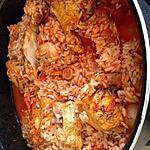 recette Poulet riz et champignons