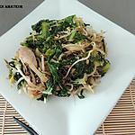 recette Wok de chou pak choï & kai choï