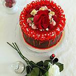 recette Gâteau de la Saint-Valentin au chocolat cœur framboise