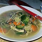 recette Soupe de nouille chinoise
