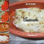 recette Plie au trio de légumes et fromage.