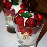 recette Dessert royal aux fraises