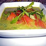 recette Crème de roquette avec des tranches de saumon