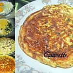 recette Omelette au boudin blanc.