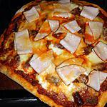 recette Pizza tunisienne à la viande hachée,filet de poulet et merguez