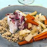recette Couscous de cabillaud au lard