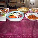 recette champignons  a la grecque ,   assiette apéritif