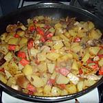 recette Poêlée ps de terre/chorizo/champignons