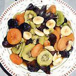 recette DUO DE SALADE DE FRUITS CUITS ET CRUS