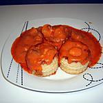recette Bouchées quenelles/ champignons/sauce rose
