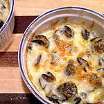 recette Gratin d'escargots au fromage bleu et petits légumes croquants
