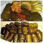 recette Feuilles de vignes farcies aux riz et légumes- Dolma,Sarma