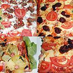 recette PIZZA POMMES DE TERRE JAMBON OIGNONS/CHORIZO MOZZARELLA