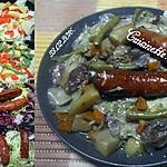 recette Saucisses Montbéliard au symphonie de légumes.