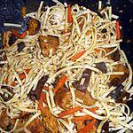 recette Nouilles chinoises au porc