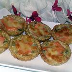 recette Tartelettes a la fondu de poireaux et saumon fumé