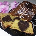recette Cake insert cœur choco