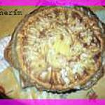 recette tarte pomme-miel et crème frangipane