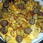 recette Omelette saucisses et pommes de terre
