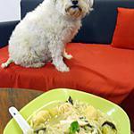 recette SOUPE CHINOISE AVEC RAVIOLI AUX CREVETTES