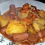 recette Ragoût de pomme de terre au knakis et chorizo