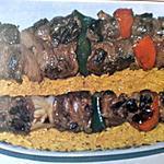 recette Brochettes d'agneau
