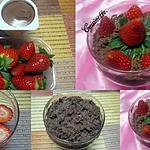 recette Coupe aux fraises mousse chocolatée.