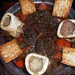 recette Jarret de boeuf mijoté avec os a moelle