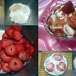 recette Fraises aux yaourts vanillés.
