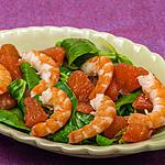 recette Salade de mâche, pomelo et crevettes