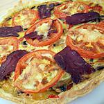 recette tarte aux 3 poivrons & champignons
