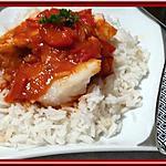 recette Pavés de saumon et cabillaud façon basquaise