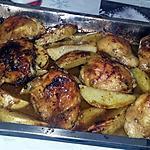 recette Cuisses de poulet Rôtis et pomme de terre aux épices asiatiques