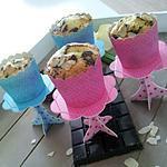 recette Mini quatre-quart individuels au amandes et pépites de chocolat