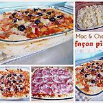 recette Mac & Cheese façon pizza