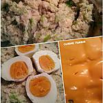 recette Écrasé de pdt-poireau à la crème, aux oeufs cuits durs et cheddar en gratin.